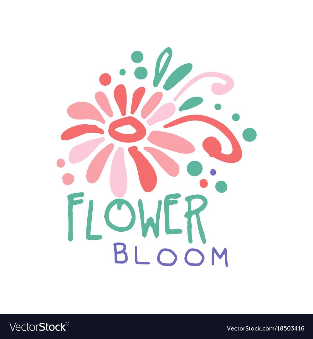 Flower bloom logo template element for floral Vector Image