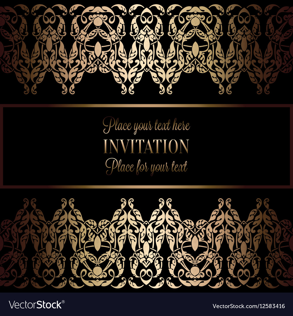 Invitation decorative 26 royalty free vector image invitation decorative 26 vector image stopboris Images