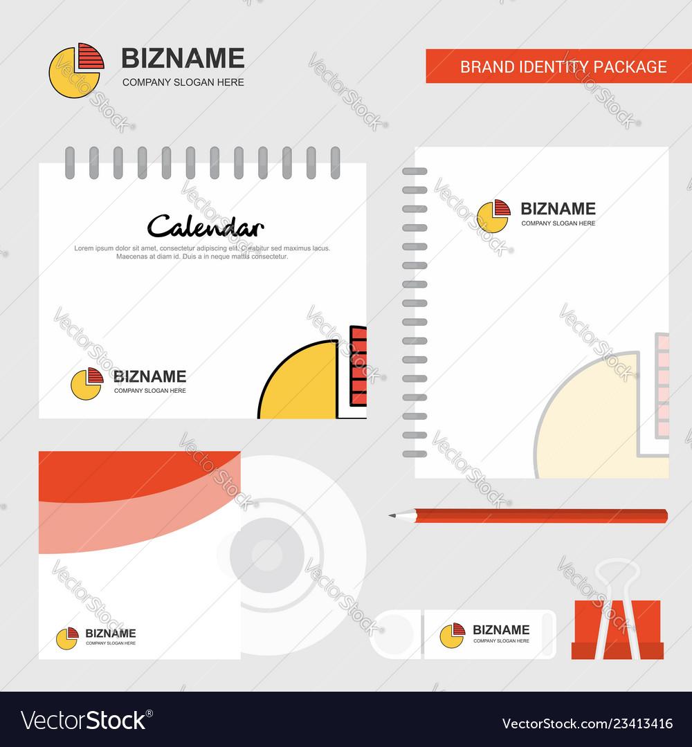 Pie chart logo calendar template cd cover diary