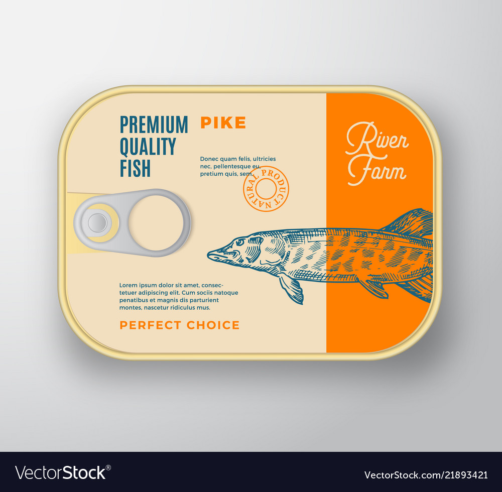 Abstract fish aluminium container with
