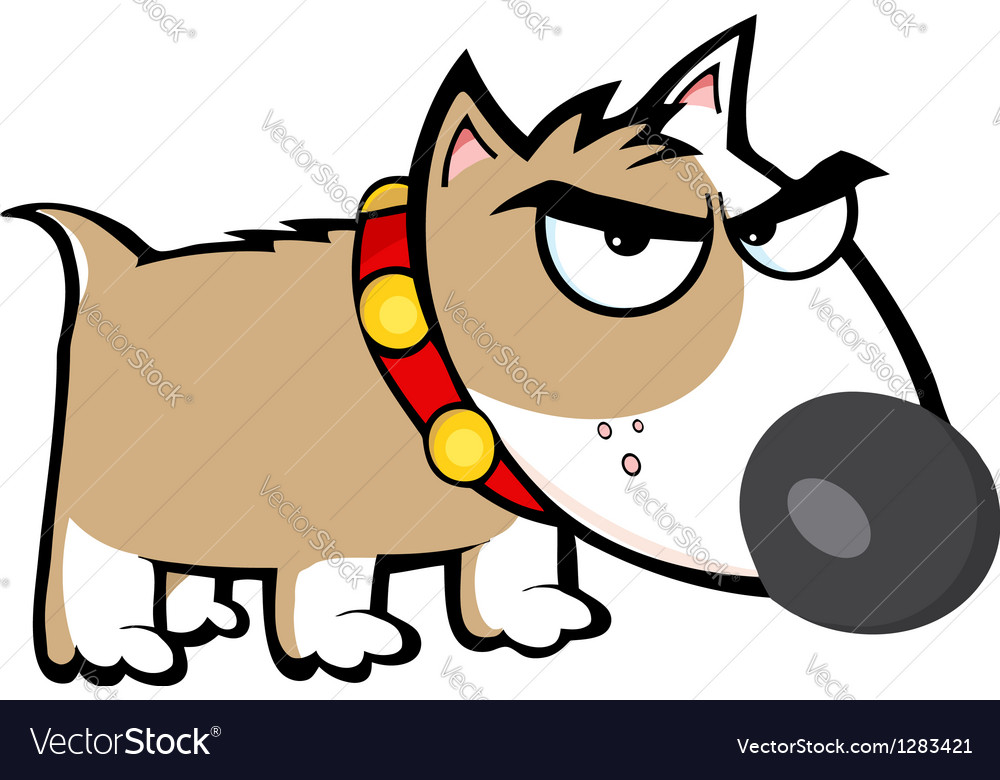 Angry Brown Dog Bull Terrier