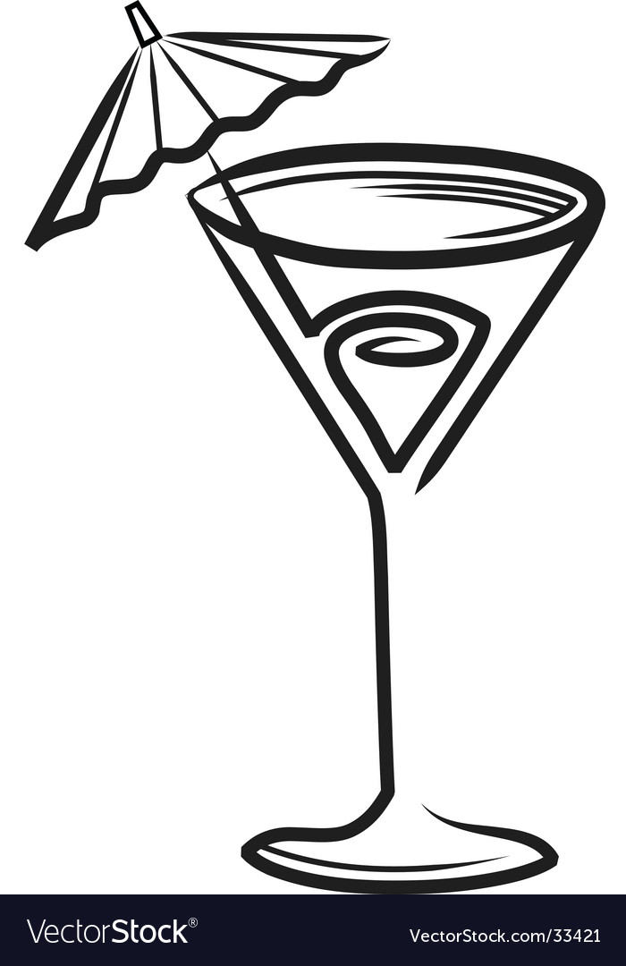 Cocktail sketch vector image