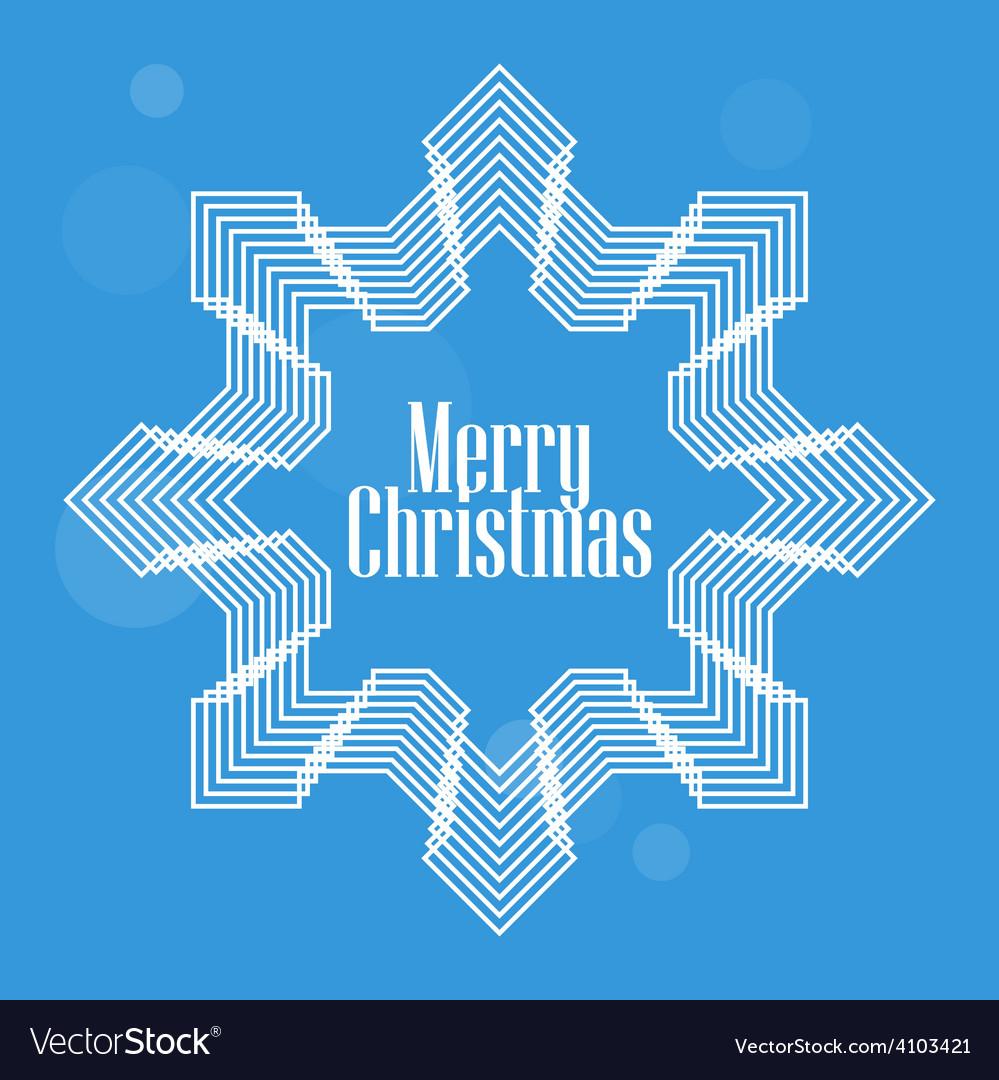 Elegant Christmas postcard with stylized snowflake