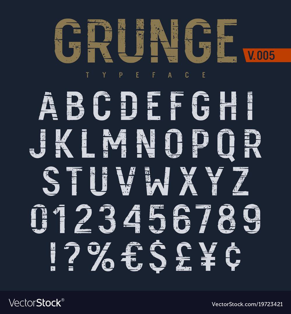 Grunge font 007