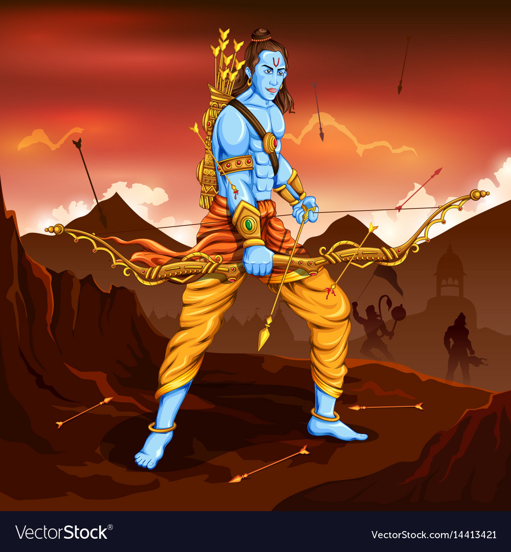 Lord Rama Killing Ravana Vector Images 73