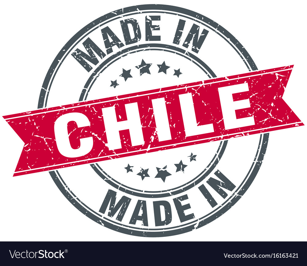 Made In Chile Red Round Vintage Stamp Vector Image