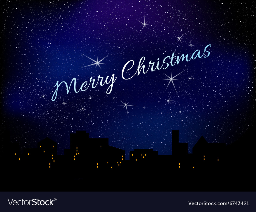 Merry Christmas Star background