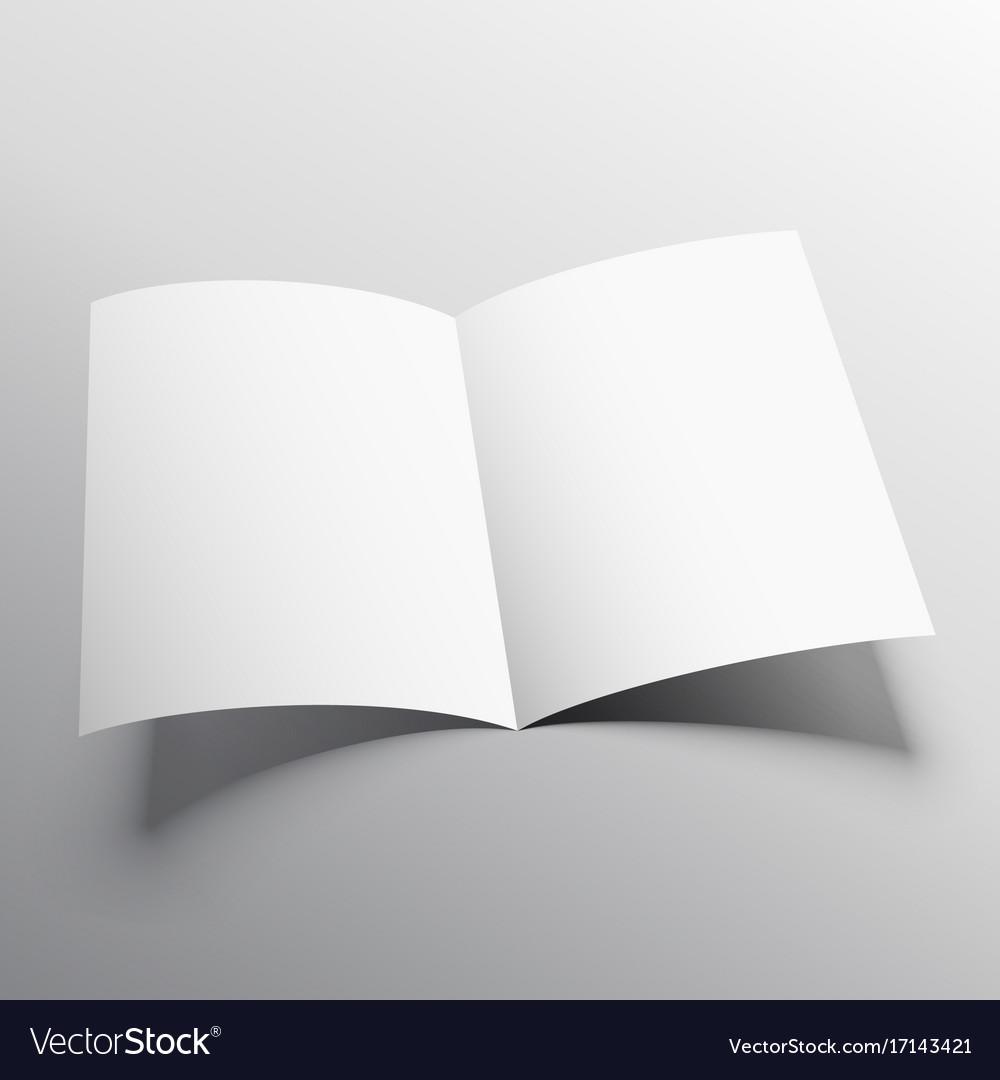 open book or bi fold brochure mockup template vector image