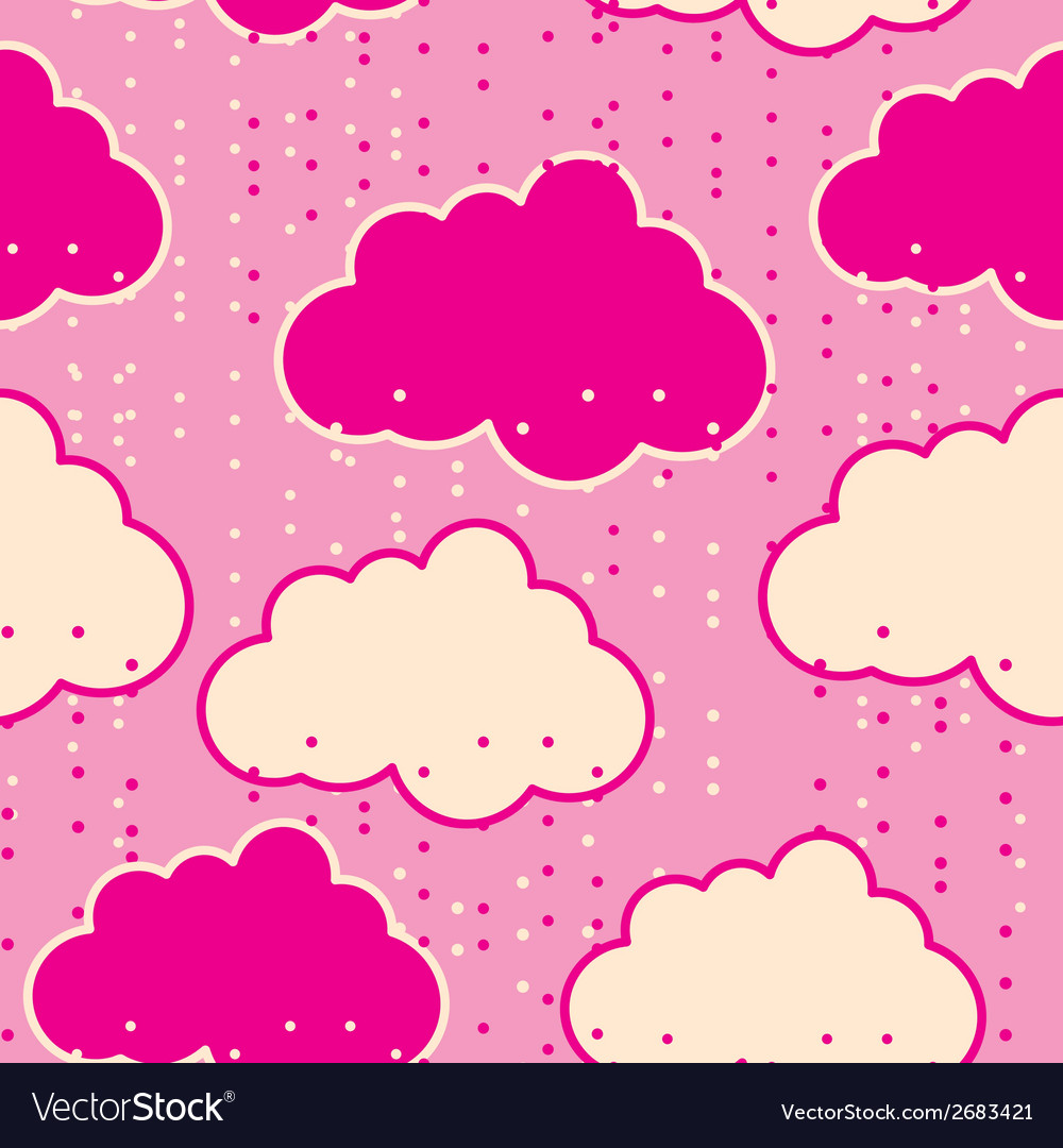 Rain clouds seamless background abstract
