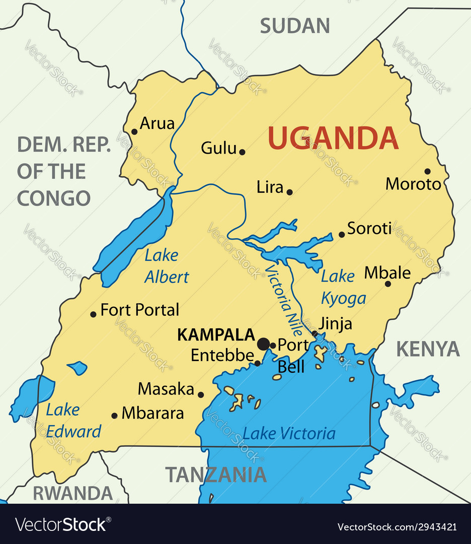 Republic of uganda map royalty free vector image republic of uganda map vector image gumiabroncs