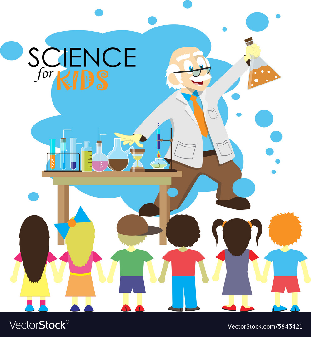 Science for kids Cartoon scientist ...