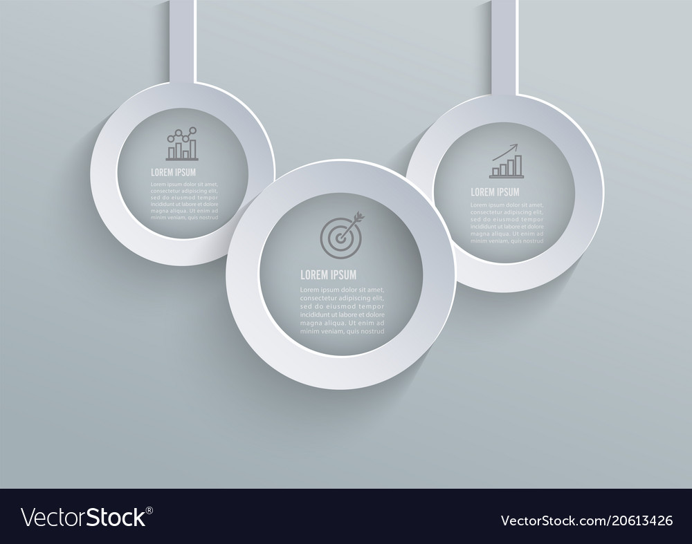 Abstract 3d paper infographic elements circular vector image