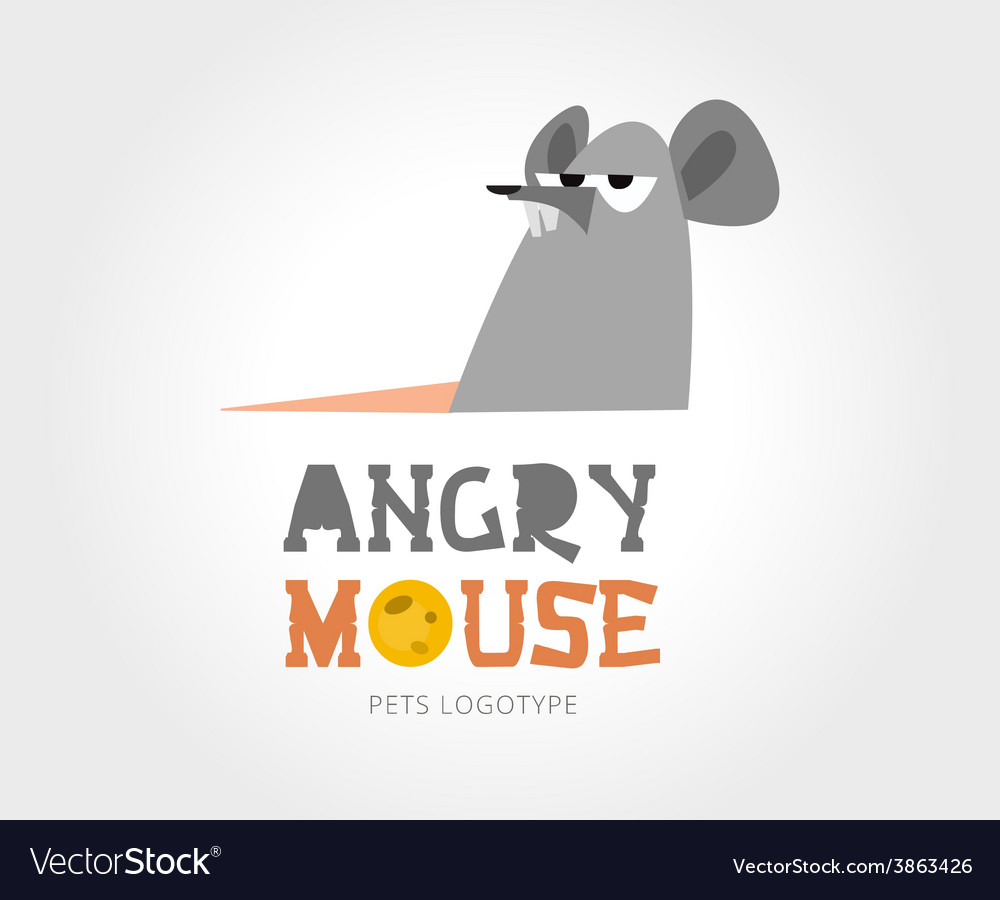 Abstract mouse logo template for branding