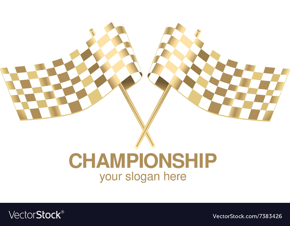 Checkered flag racing gold
