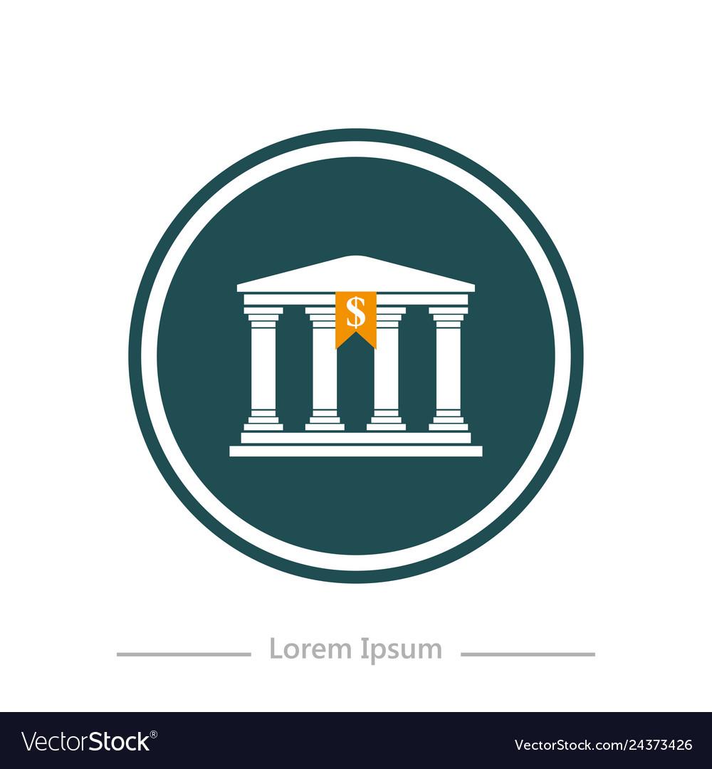 Logo on a background bank stylish flat