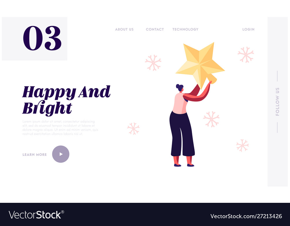 Preparation for new year and christmas website