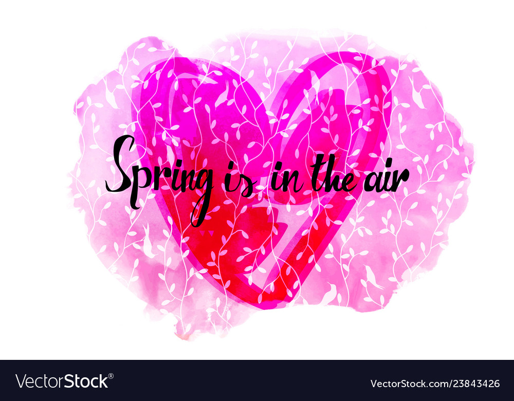 Spring in air beautiful card vector