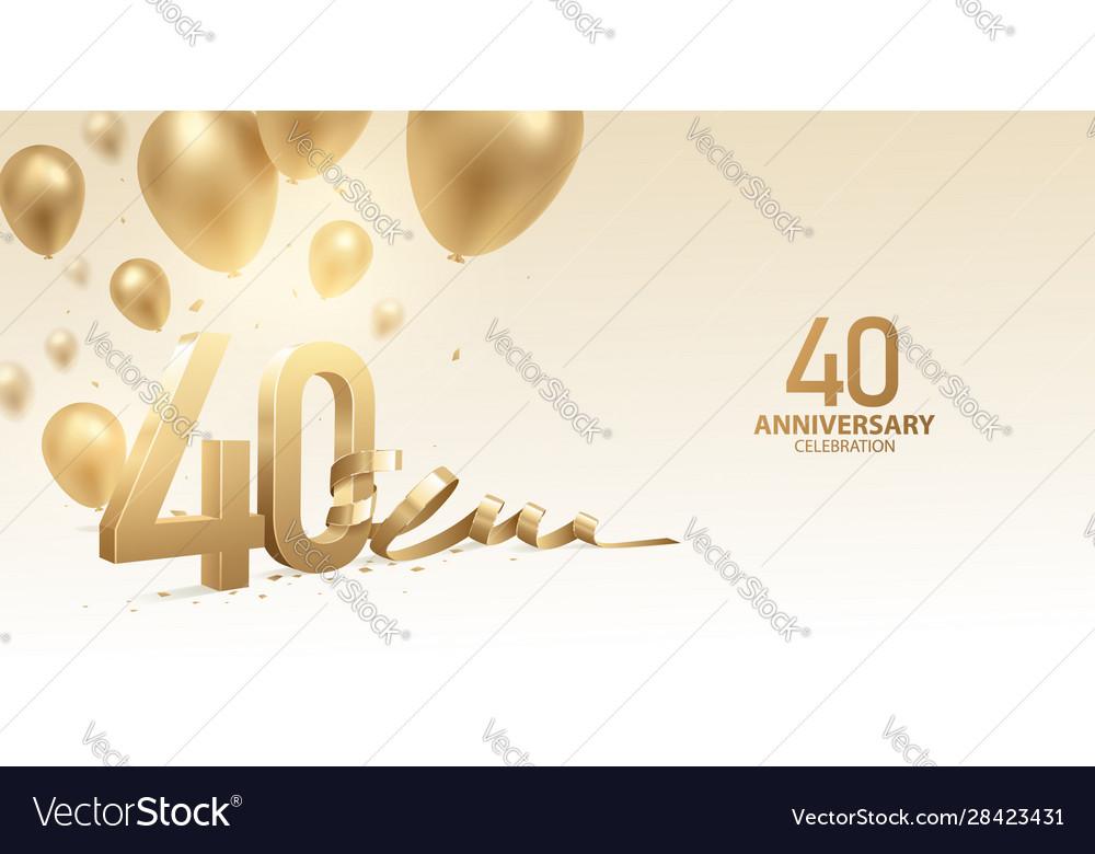 40th anniversary celebration background
