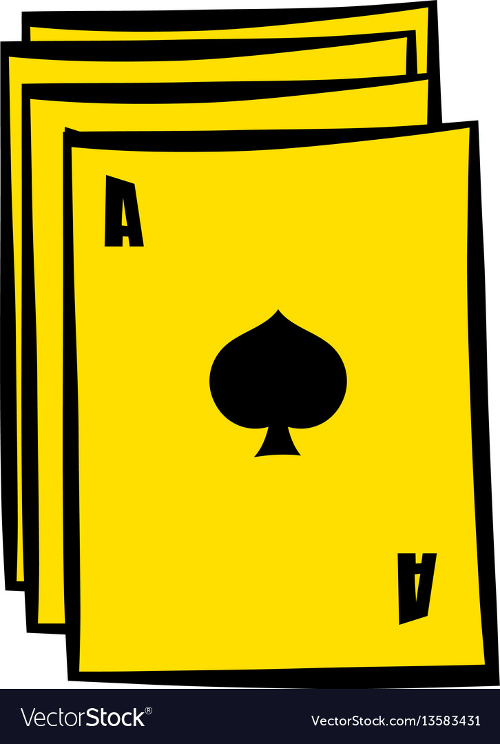 Ace of spades playing card icon in icon cartoon