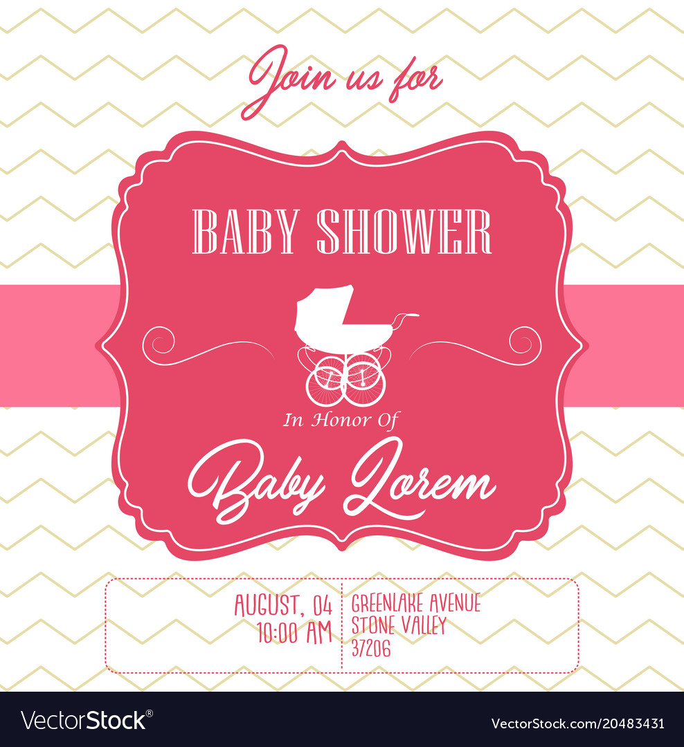 Contemporary Baby Shower Invitation Card Image Collection - Resume ...