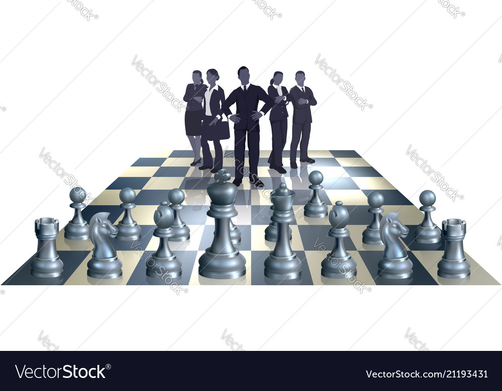Chess business team concept