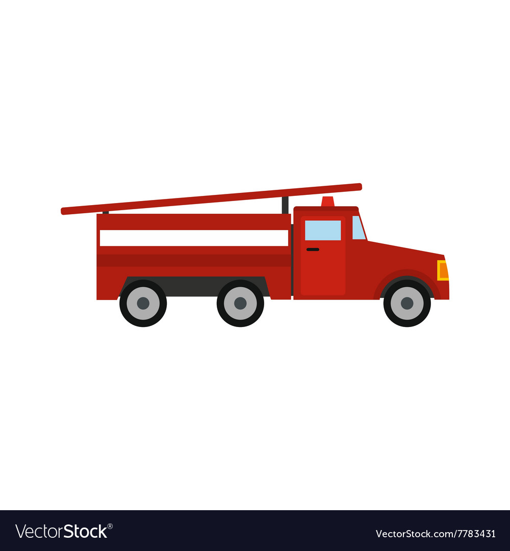 fire truck icon royalty free vector image vectorstock rh vectorstock com fire truck vector art fire truck vector free download