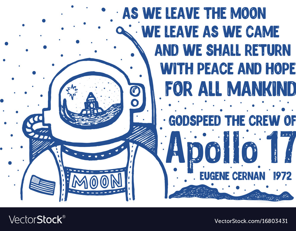 Leaving the moon print for kids