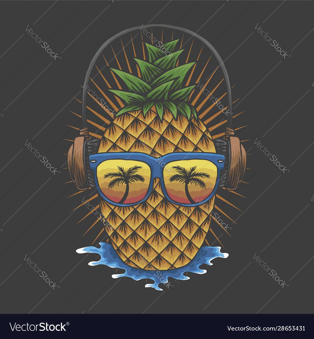 Pineapple headphone