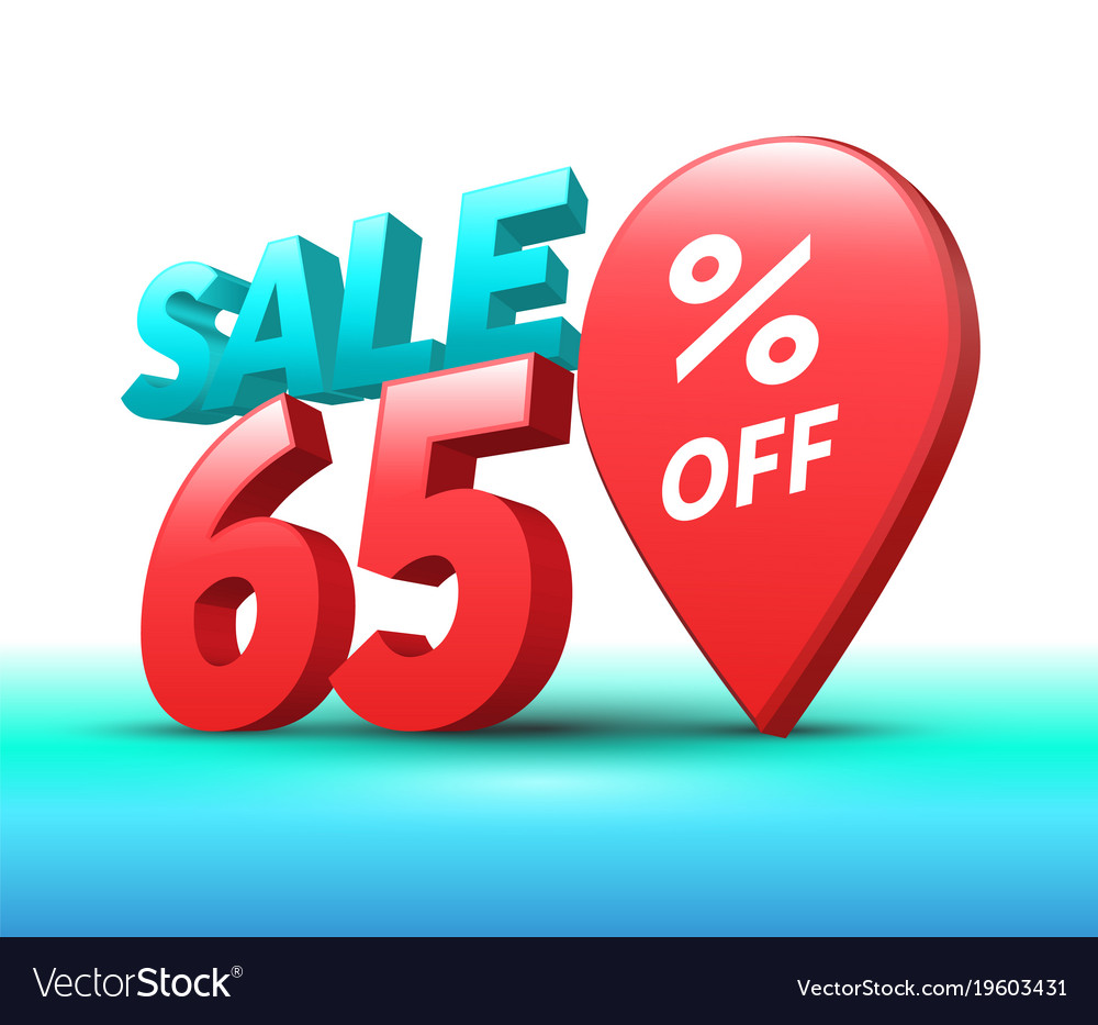 Sale banner 3d style vector image