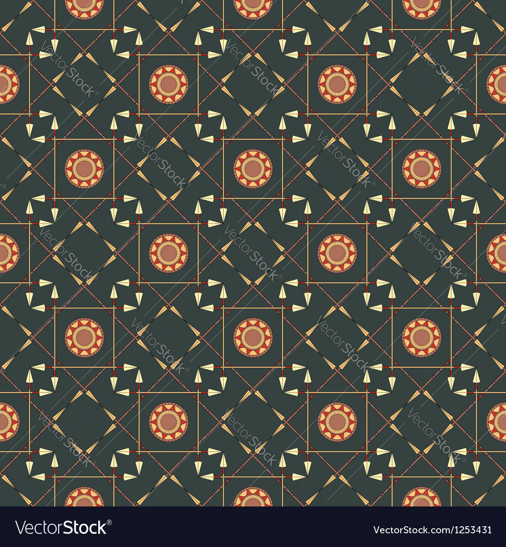 Seamless geometric pattern with arrows and spears
