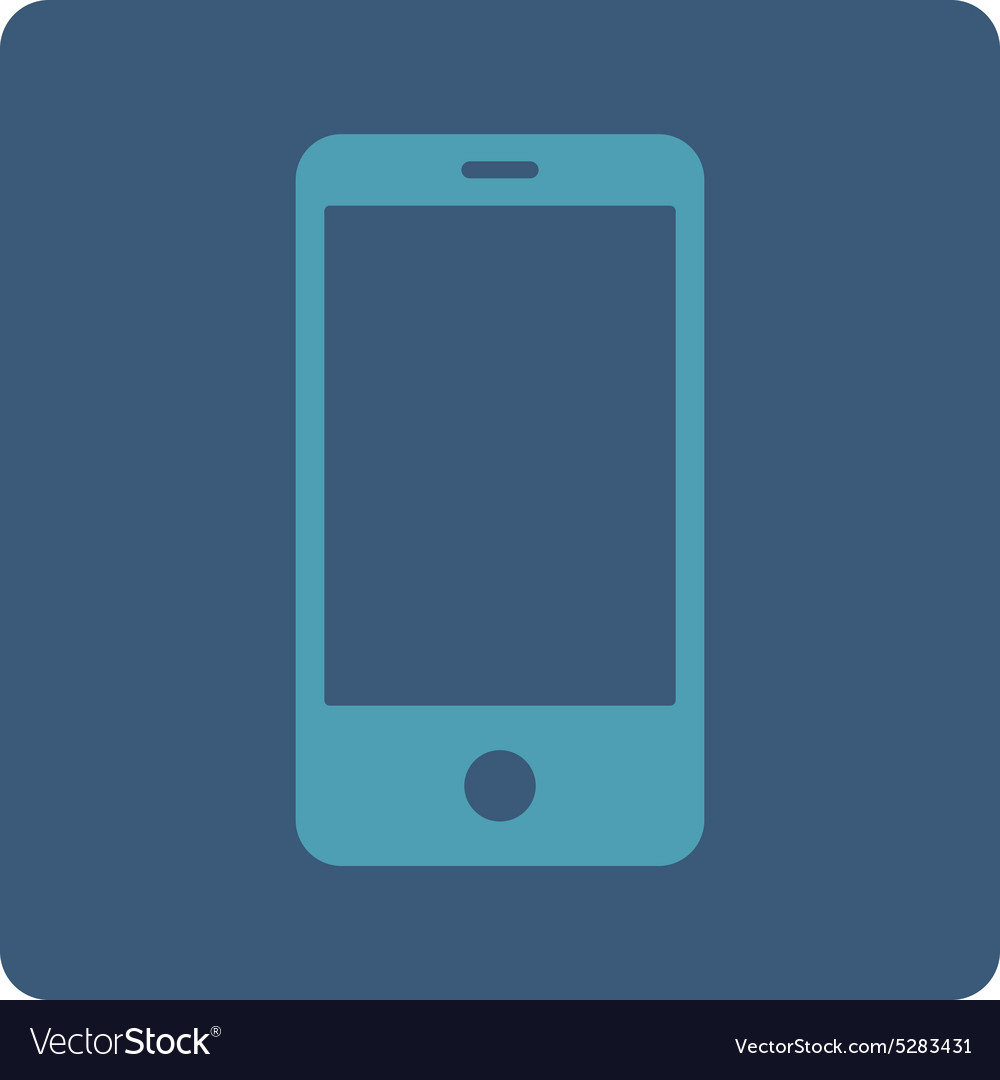 Smartphone flat cyan and blue colors rounded