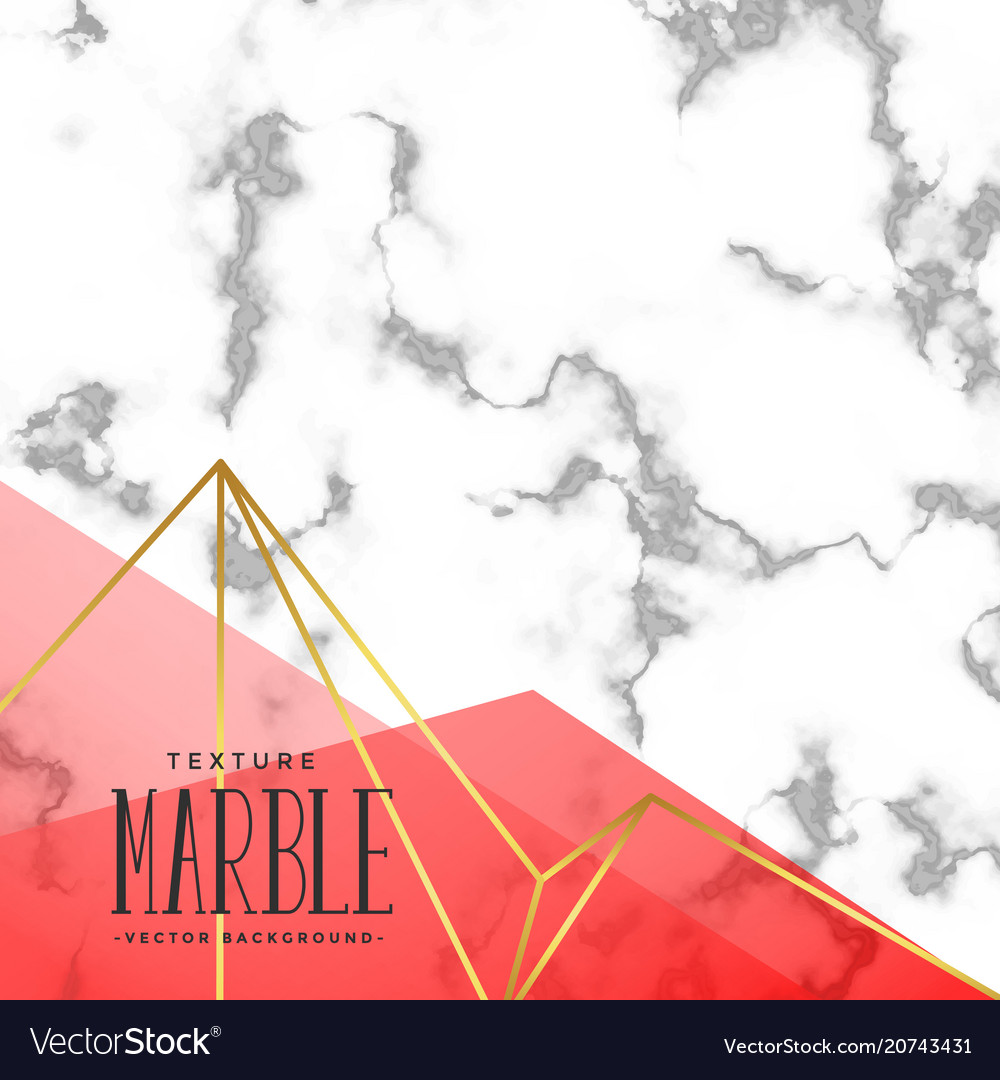 Trendy marble texture effect background vector image
