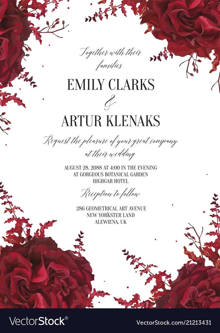 Wedding floral invite invtation card design