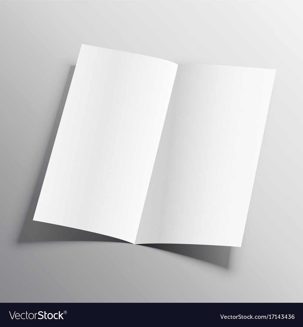 bi fold paper mockup design template royalty free vector