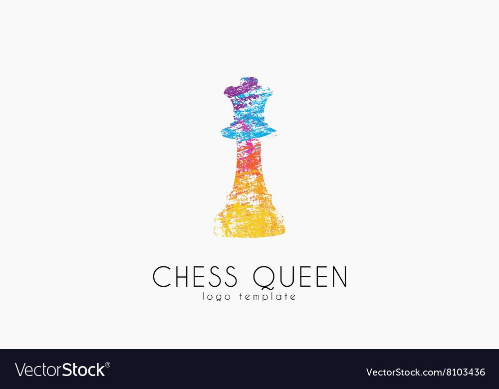 Chess queen logo Queen logo Chess logo Creative