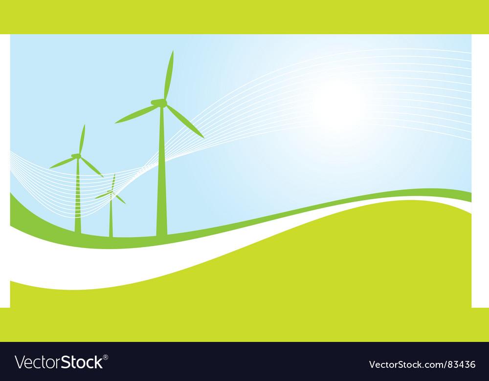 Eco power vector image