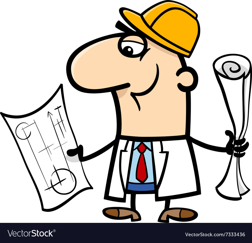 Engineer cartoon vector image