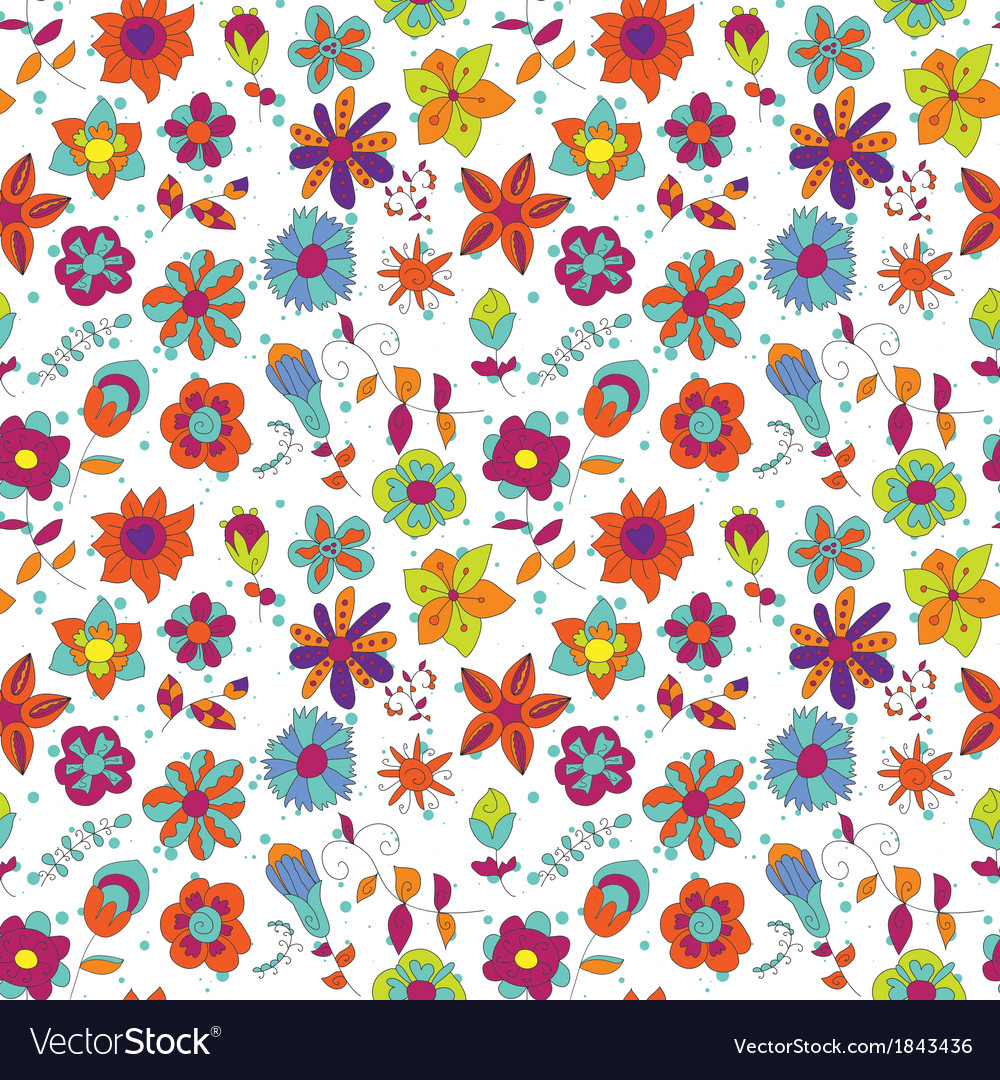 Floral Abstract bright flower vector image