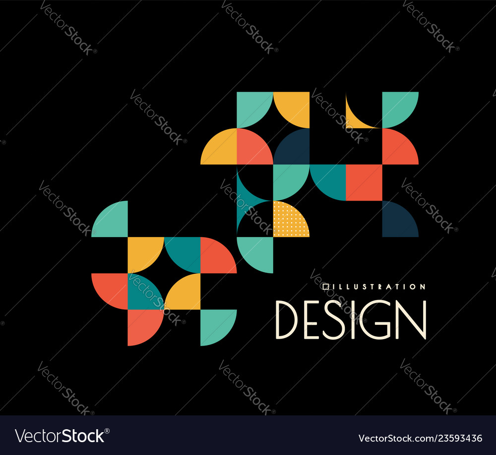 Geometric design with shapes in the style of