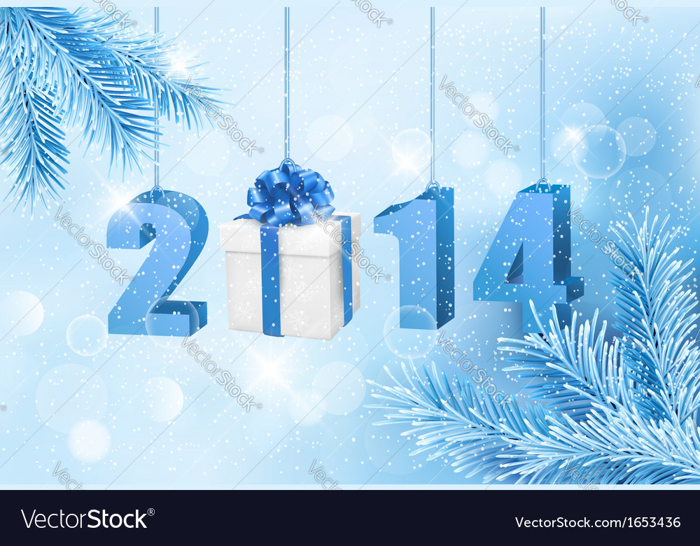Happy new year 2014 New year design template