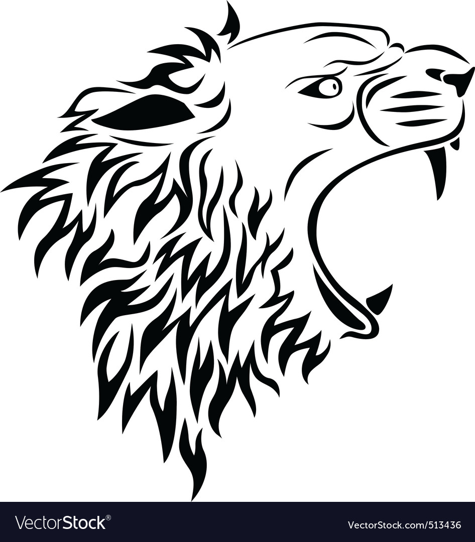 clip art lion head. lion head tattoos.