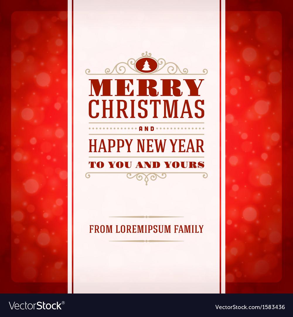 Merry Christmas Invitation Card