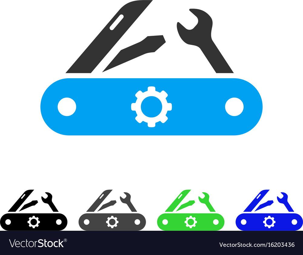 Swiss knife flat icon