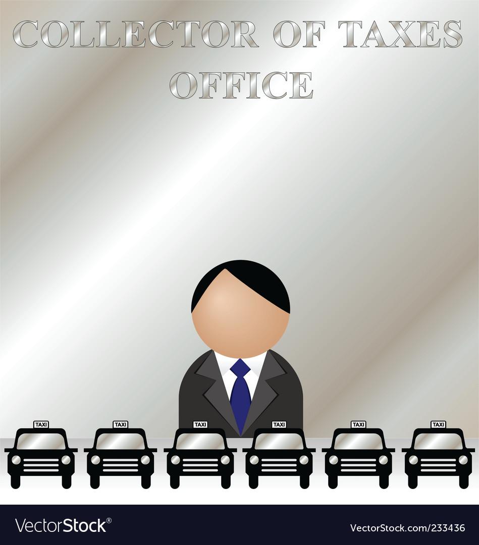 Tax man vector image