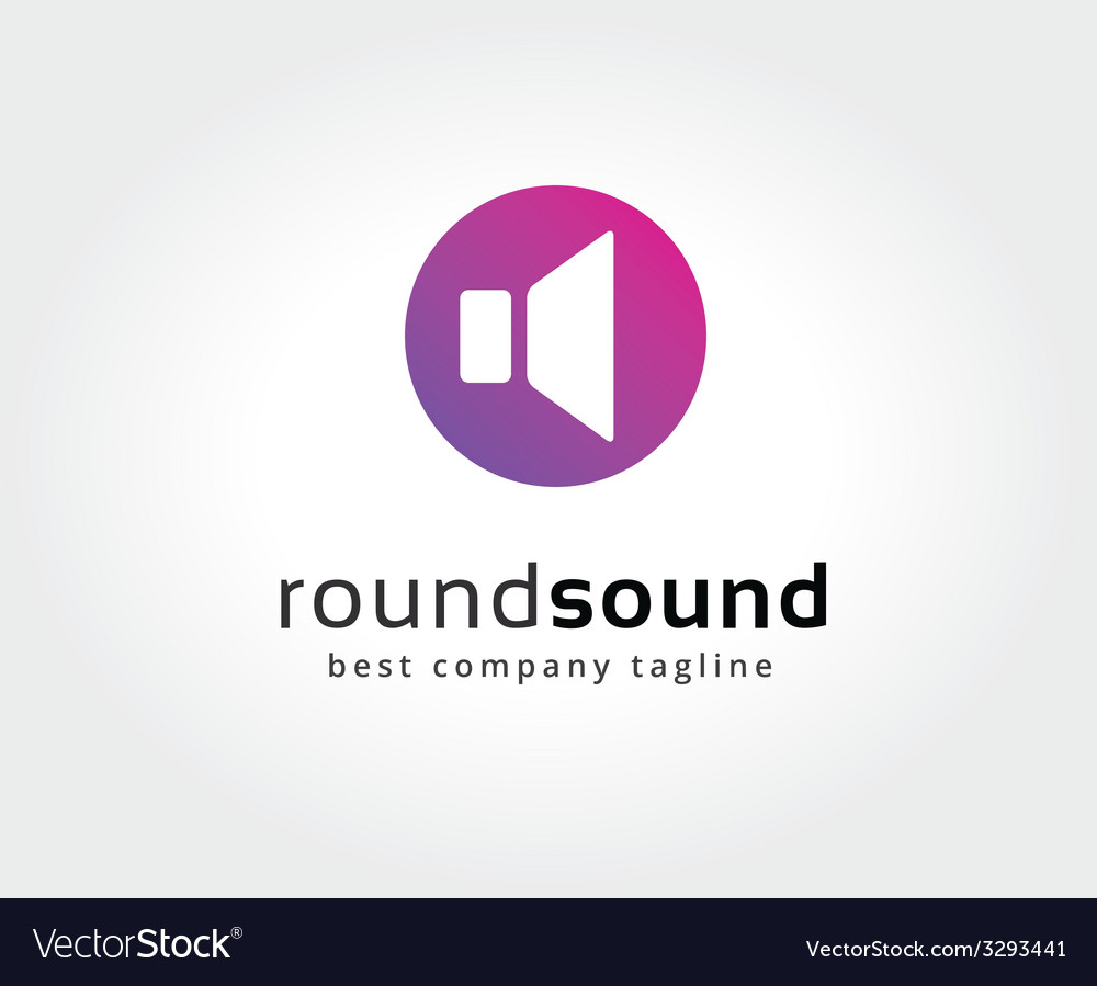Abstract colored sound speaker logo icon concept