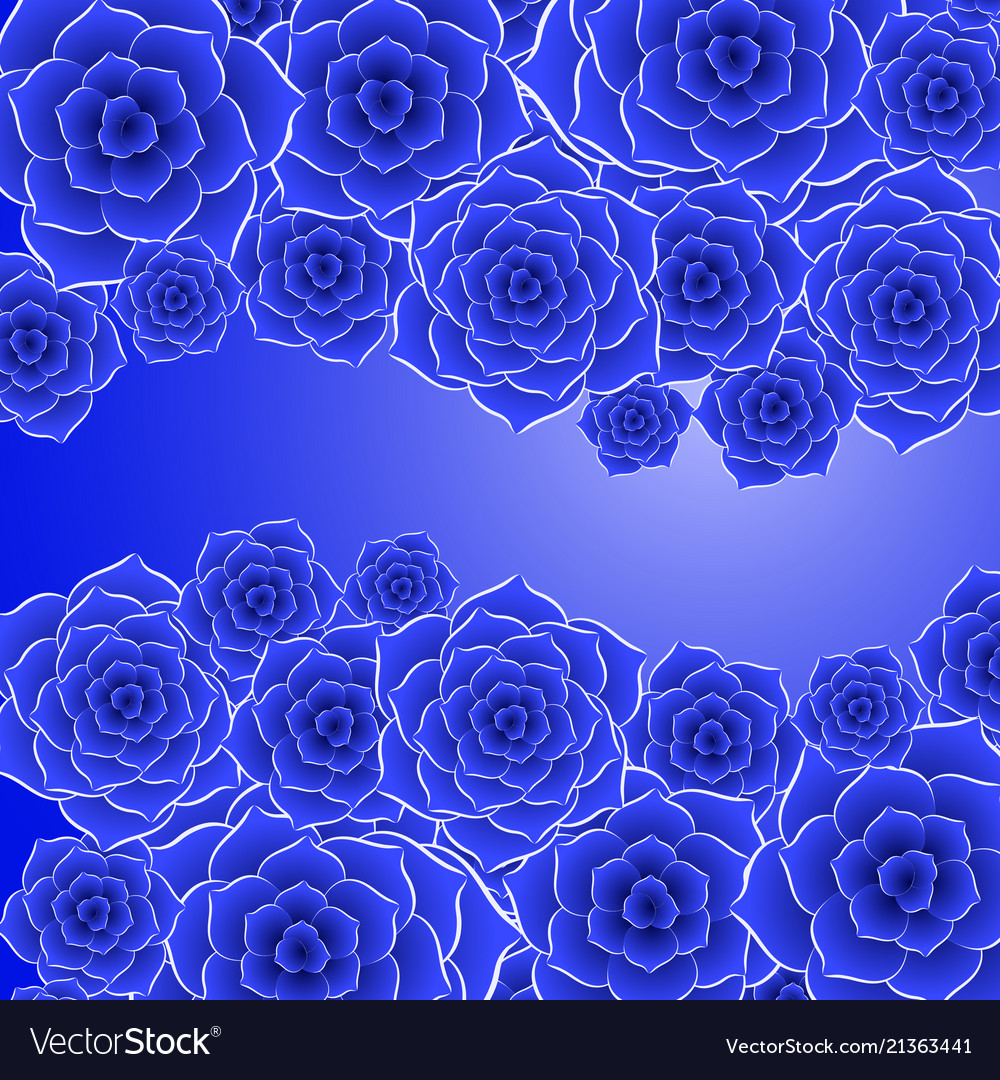Beautiful Blue Rose Flower Background Royalty Free Vector