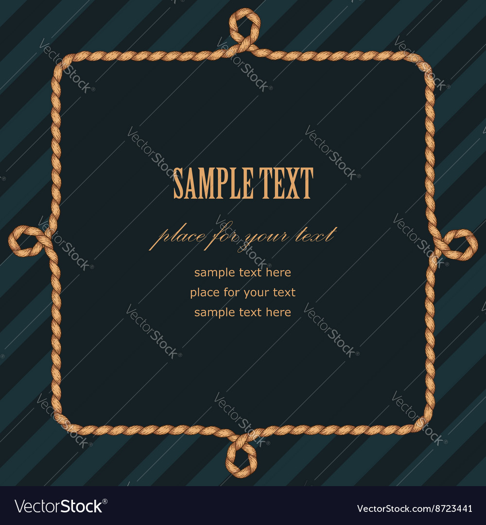 Frame rope twist vector image