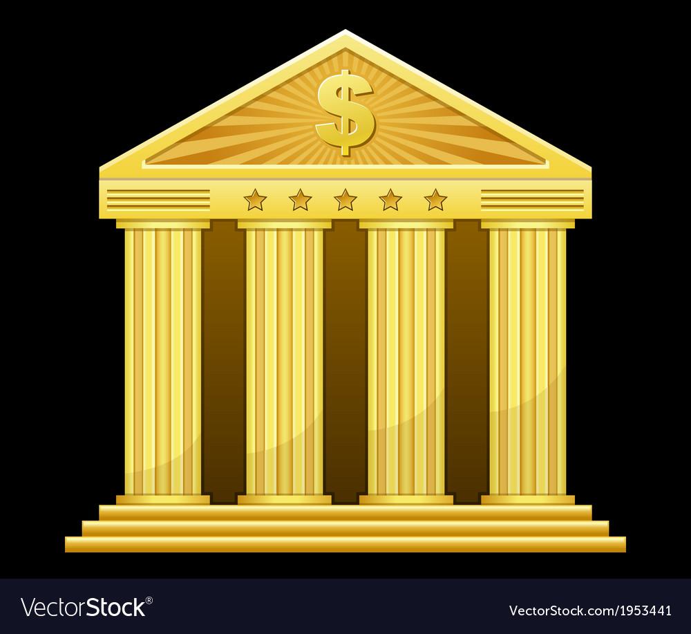 Gold bank vector image