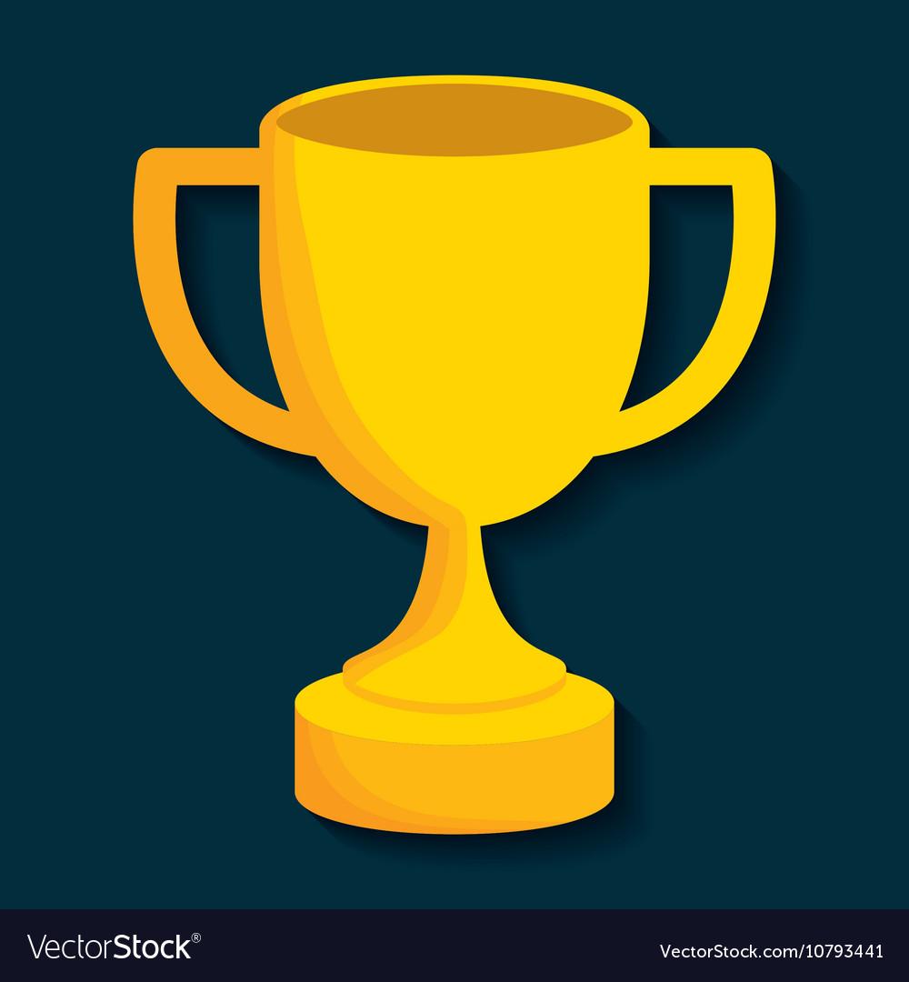 Gold Trophy Cup Design Vector Image