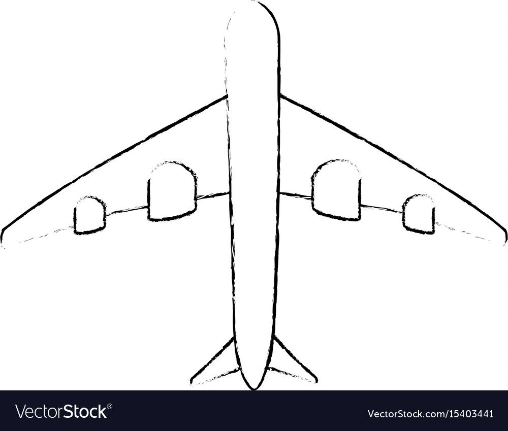 Isolated big airplane